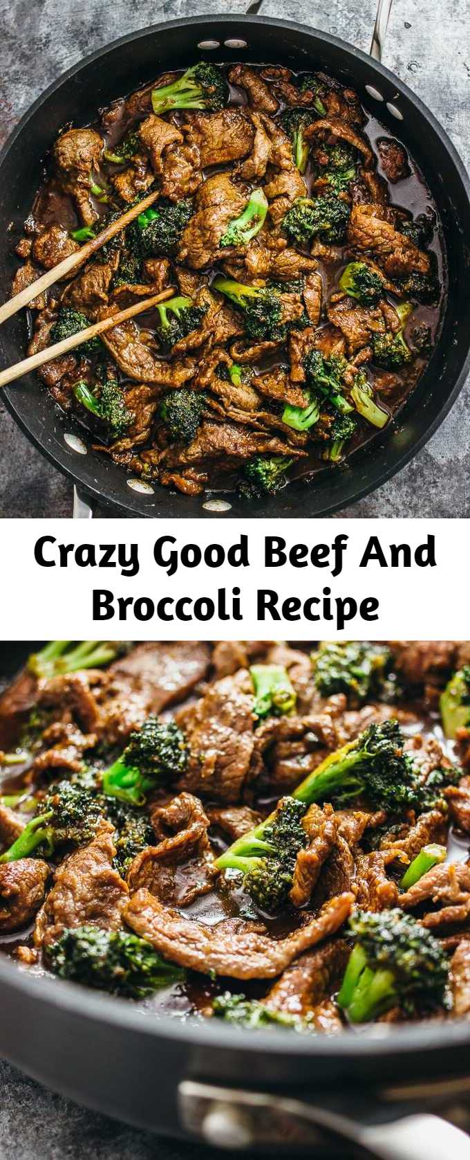 Crazy Good Beef And Broccoli Recipe - An easy recipe for authentic Chinese beef and broccoli. I love beef and broccoli because I can't resist anything with tender and tasty strips of flank steak, and it's such an easy one-pan stir fry recipe that takes less than 30 minutes total. Also, if you're a huge broccoli fan like me, you'll love these juicy and flavorful bites of broccoli in between mouthfuls of meat and rice.