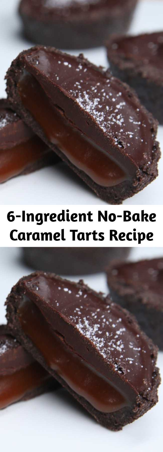 6-Ingredient No-Bake Caramel Tarts Recipe - This is seriously one of the easiest, most impressive desserts ever.