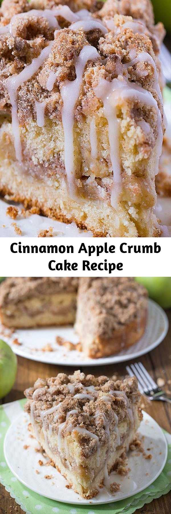 Cinnamon Apple Crumb Cake Recipe - Are you ready for fall baking? Cinnamon Apple Crumb Cake is the perfect dessert for crisp weather coming up.