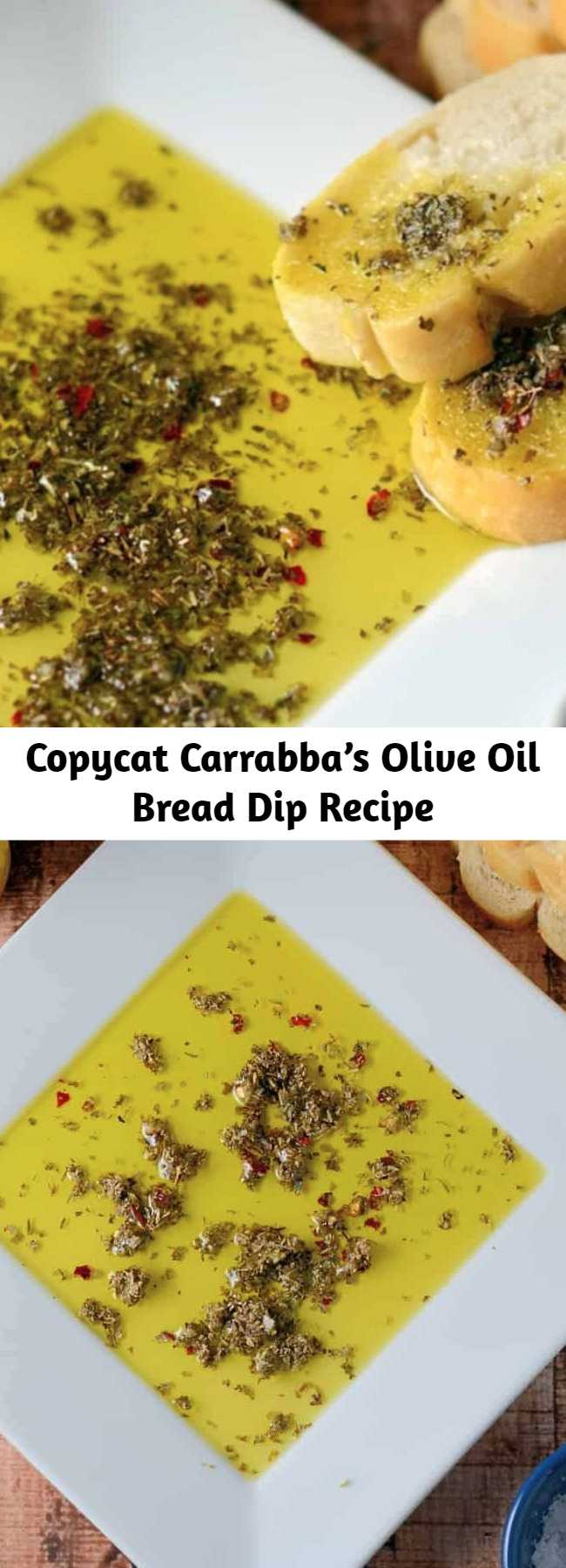 Copycat Carrabba's Olive Oil Bread Dip Recipe - The best bread dip recipe out there! Use as a dipping sauce for cheese, meats, drizzle on salads or mix into pasta sauce. These are the best dipping spices to make ahead and keep it in the pantry!