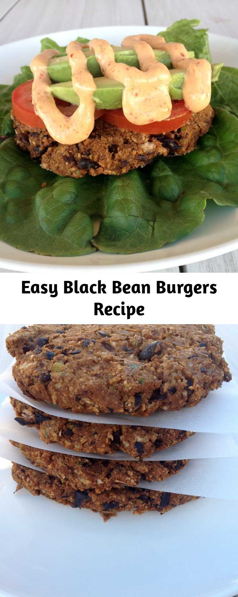 Easy Black Bean Burgers Recipe - These are THE BEST Black Bean Burgers I have ever had! Easy, healthy and so delicious!