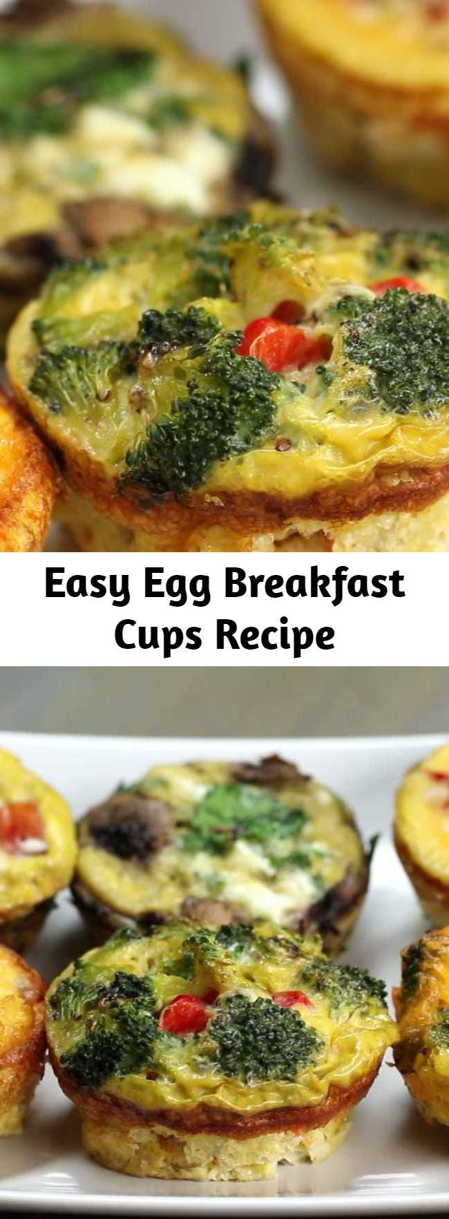 Easy Egg Breakfast Cups Recipe - Egg Breakfast Cups are low carb, filling and quick to grab while running out of the door! Can be cooked ahead of time and refrigerated for when you need them to grab and go!