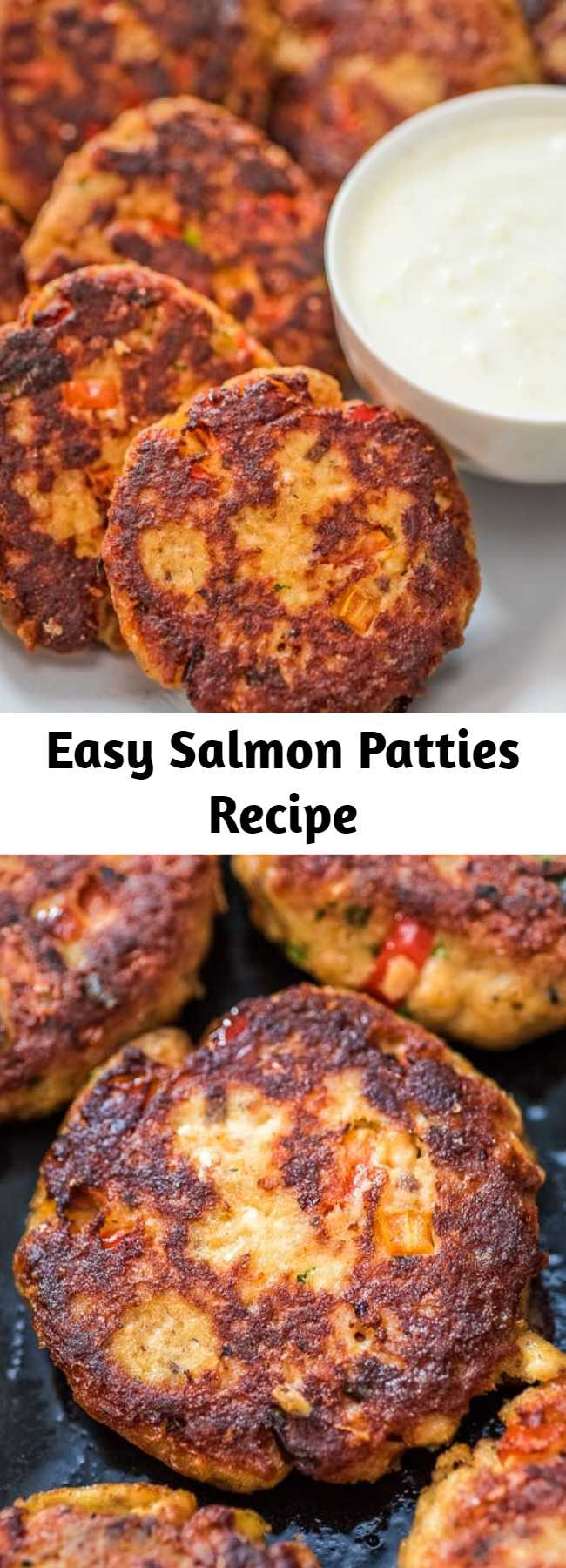Easy Salmon Patties Recipe - This Easy Salmon Patty recipe is definitely a keeper. Made with canned salmon and simple ingredients, you'll want to make it again and again. #dinner #lunch #salmon #fish #seafood #recipeoftheday