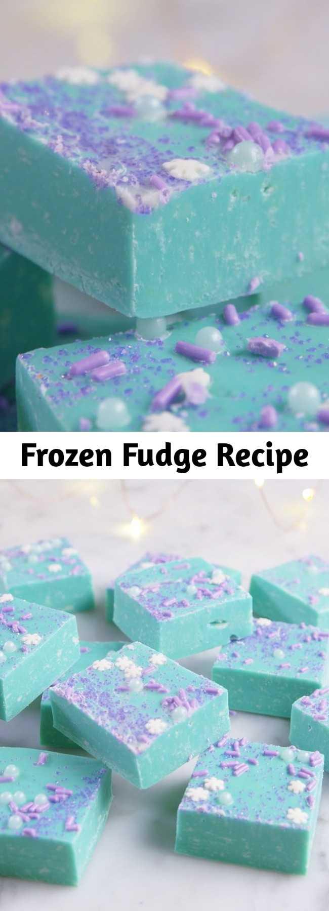 Frozen Fudge Recipe - Even Elsa couldn't resist this fudge. #kids #dessert #frozen #fudge #baking