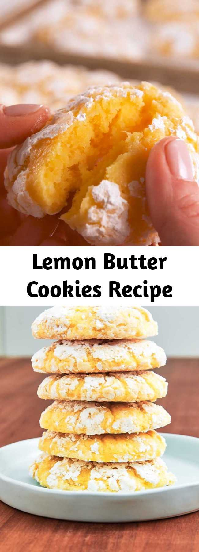 Lemon Butter Cookies Recipe - These cookies have the perfect balance of sweet and tart. It's the treat to make any day a little better. #easy #recipe #lemon #butter #cookies #lemonbuttercookies #springdesserts #dessertideas #dessert