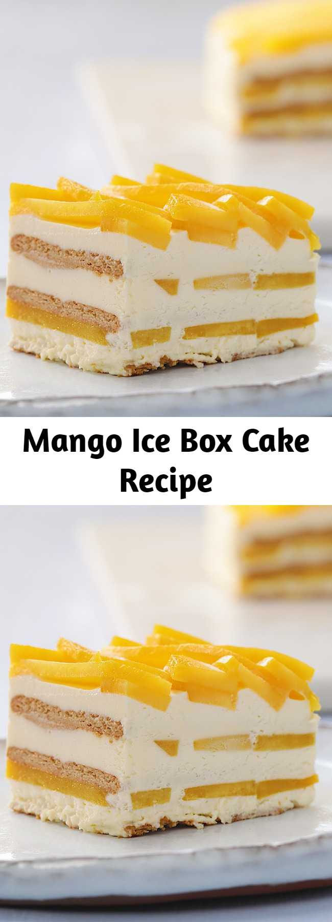 Mango Ice Box Cake Recipe - This mango icebox cake is a Summer family classic! the layers of juicy fresh mango are sure to keep you refreshed!