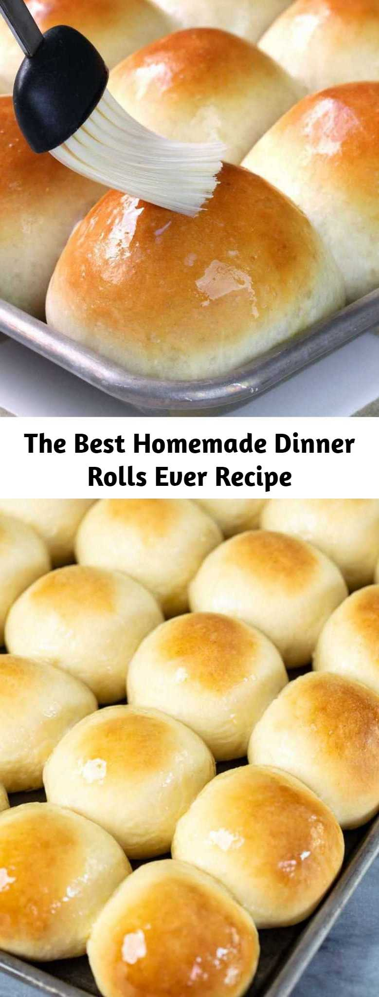 The Best Homemade Dinner Rolls Ever Recipe - Perfectly soft dinner rolls that melt in your mouth! These are truly the most amazing dinner rolls ever.