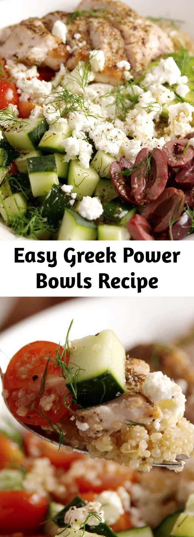 Easy Greek Power Bowls Recipe - Get us to the Greek [bowl]!