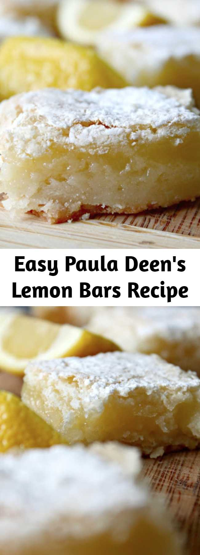 """Easy Paula Deen's Lemon Bars Recipe - If you're looking for a fairly quick and light dessert, this one is perfect. I like what Paula said in the magazine and it's wonderfully true, """"I love making these because you don't even have to pull out a mixer."""" Thanks, Paula, for making it easy on us."""