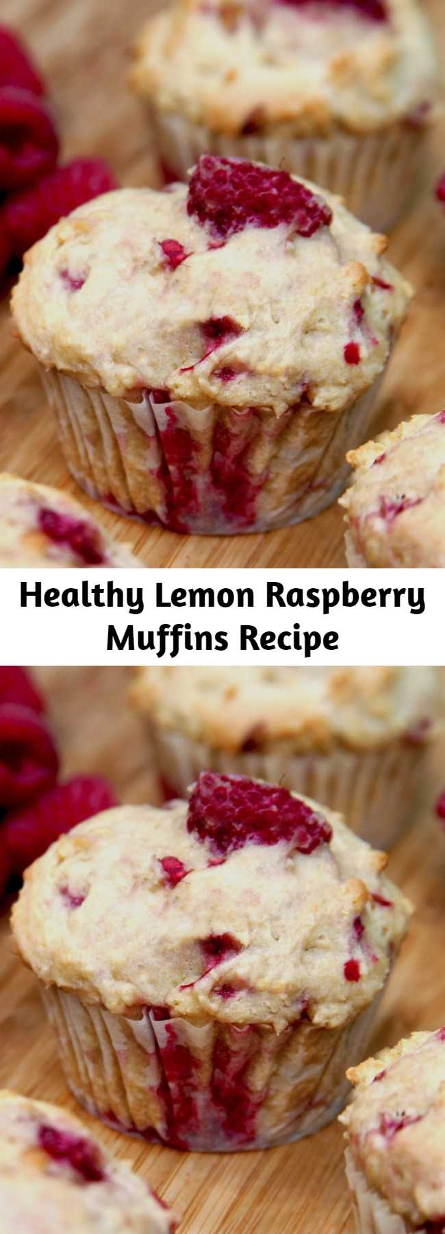 Healthy Lemon Raspberry Muffins Recipe - Berries are finally in season! Pick up a pint, and make these moist and naturally sweet muffins. Made with Greek yogurt instead of buttermilk, they're a tasty way to get some protein without all the fat. These are so light and summery, with bursts of juicy raspberries — perfect to grab with your morning smoothie or to bake up for a weekend brunch.