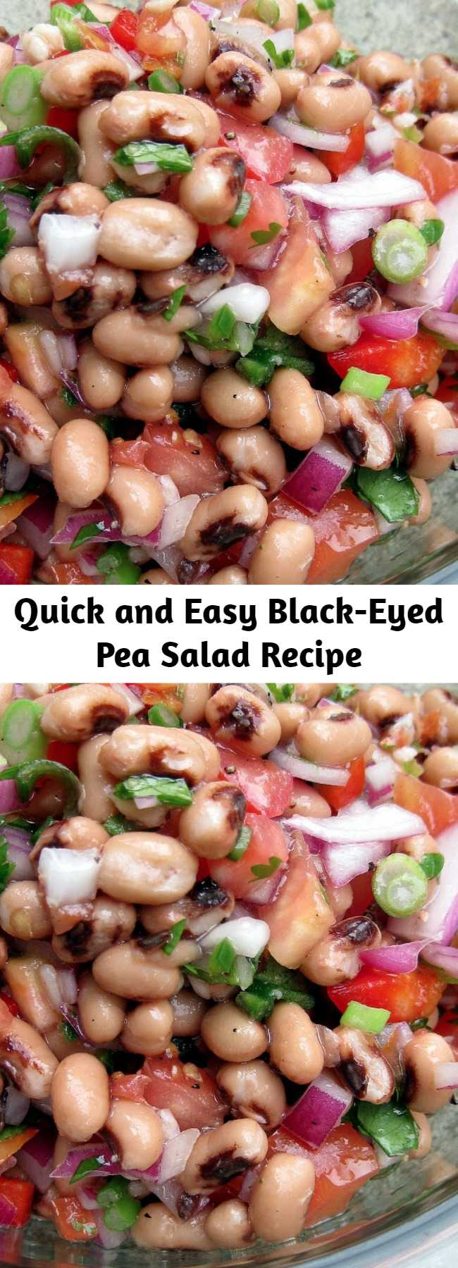 Quick and Easy Black-Eyed Pea Salad Recipe - This bean salad would be a hit on any occasion this summer. It's quick, inexpensive, and easy. And it's addictive.