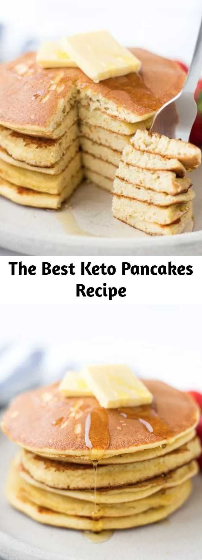 The Best Keto Pancakes Recipe - The Best Keto Pancakes recipe that has ever been made in our household! Made with just 6-ingredients this keto pancake mix is so easy to whip together with almond flour. Sunday morning pancakes will become a normal here on out.