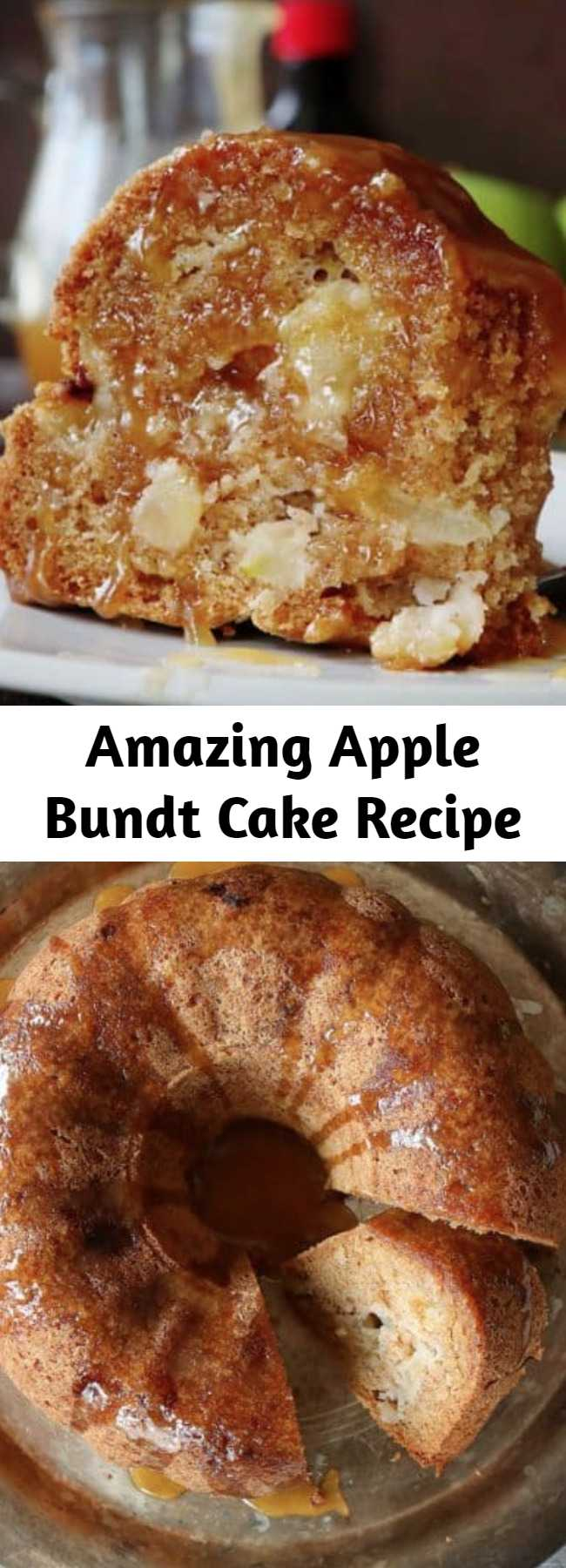 Amazing Apple Bundt Cake Recipe - Seriously amazing Apple Bundt Cake that you will want to make again and again! This recipe has been handed down through the generations and definitely stands the test of time. #applebundtcake #baking #fallbaking #recipes #applecake #apples