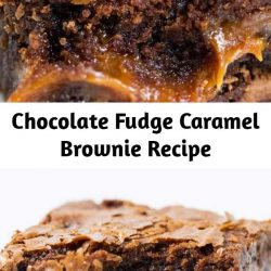 Chocolate Fudge Caramel Brownies - Easy to make brownies that are loaded with chocolate chips and layers of gooey caramel. Rich, chewy and simply amazing!