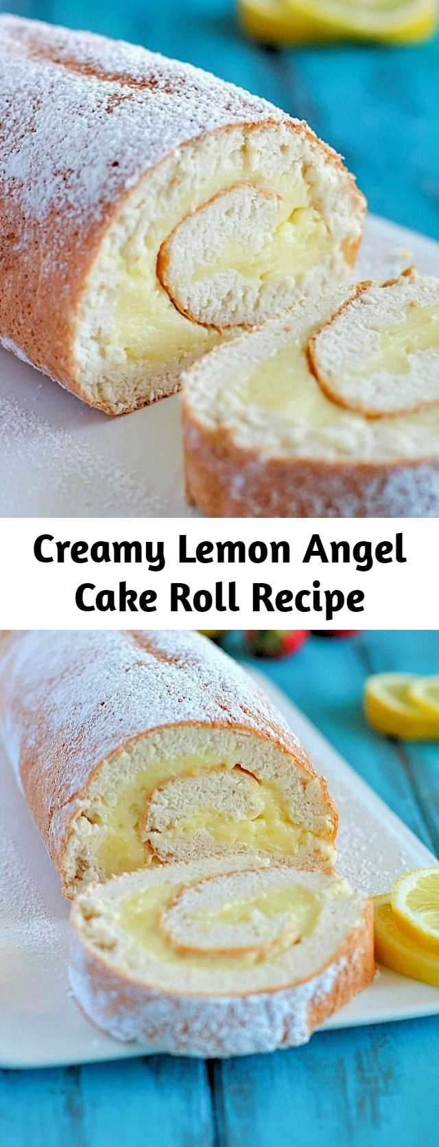 Creamy Lemon Angel Cake Roll Recipe