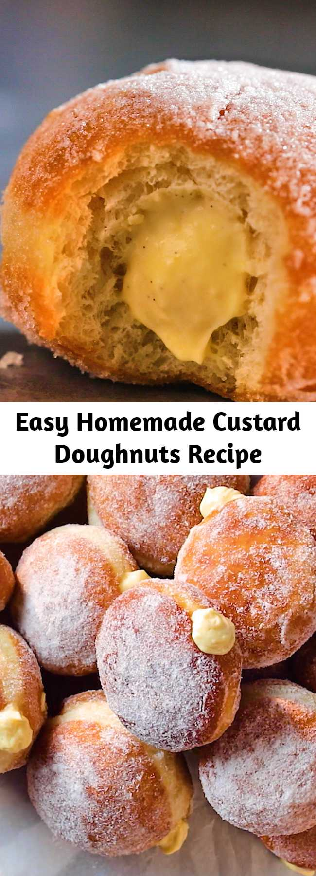 Easy Homemade Custard Doughnuts Recipe