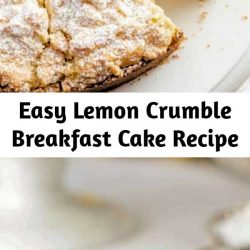 An easy to make breakfast cake with a moist, tender crumb topped with a sweet crumble topping.