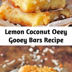 These Lemon Coconut Gooey Butter Bars are buttery, gooey, with a taste of lemon and a touch of coconut. This is made of Paula Deen's Ooey Gooey Butter Bars. If you love that recipe, you will love these bars.