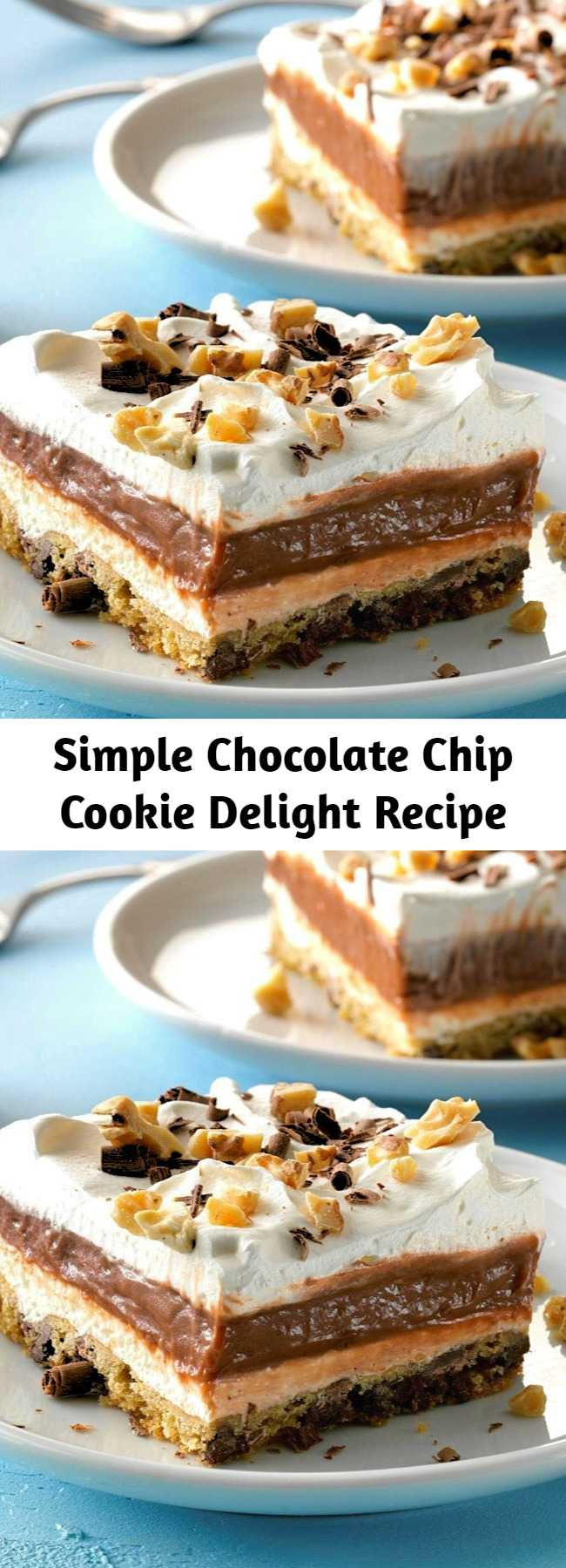 Simple Chocolate Chip Cookie Delight Recipe - Simple Chocolate Chip Cookie Delight Recipe - This is a simple chocolate delight recipe for any type of potluck occasion, and the pan always comes home empty.