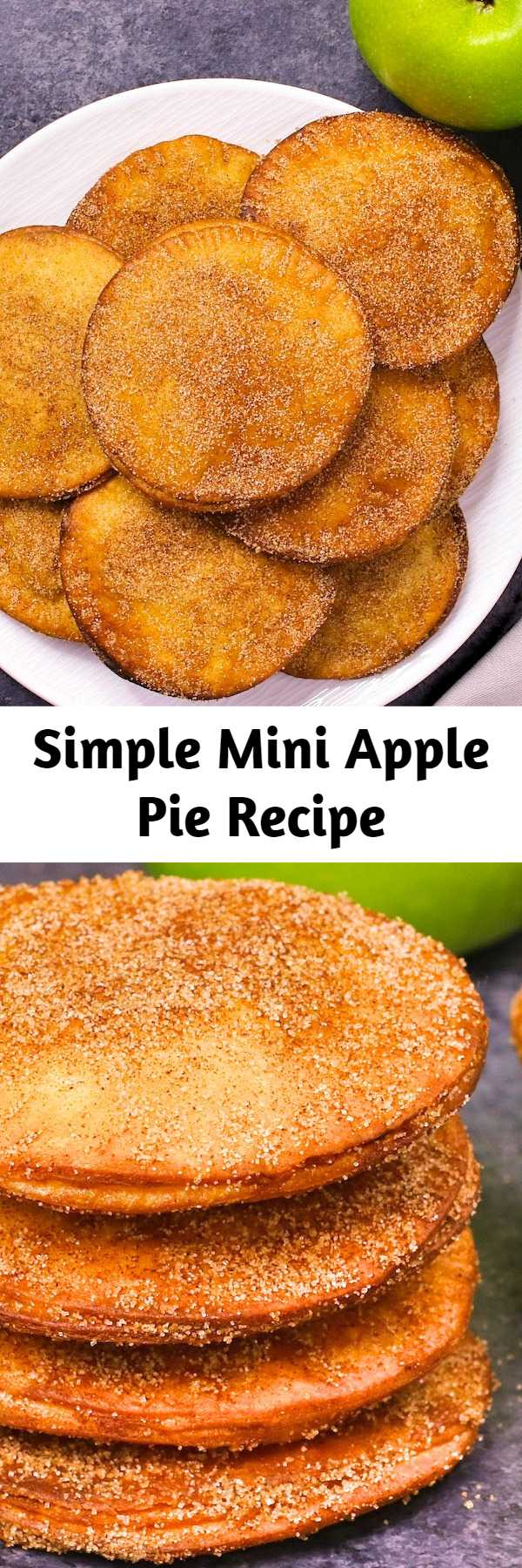 Simple Mini Apple Pie Recipe - Mini Apple Pies have sweet and soft filing with crispy pie on the outside. It's simple to make and takes less than 20 minutes. It's one of my favorite dessert recipes.