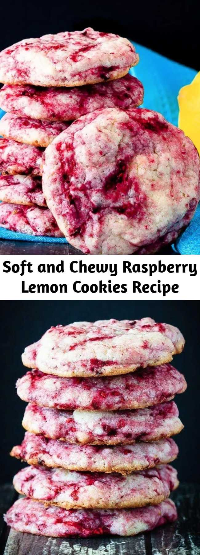 These raspberry lemon cookies are ultra soft and chewy - quick and easy to make and so tasty everyone loves them. One of the best cookies I've made!
