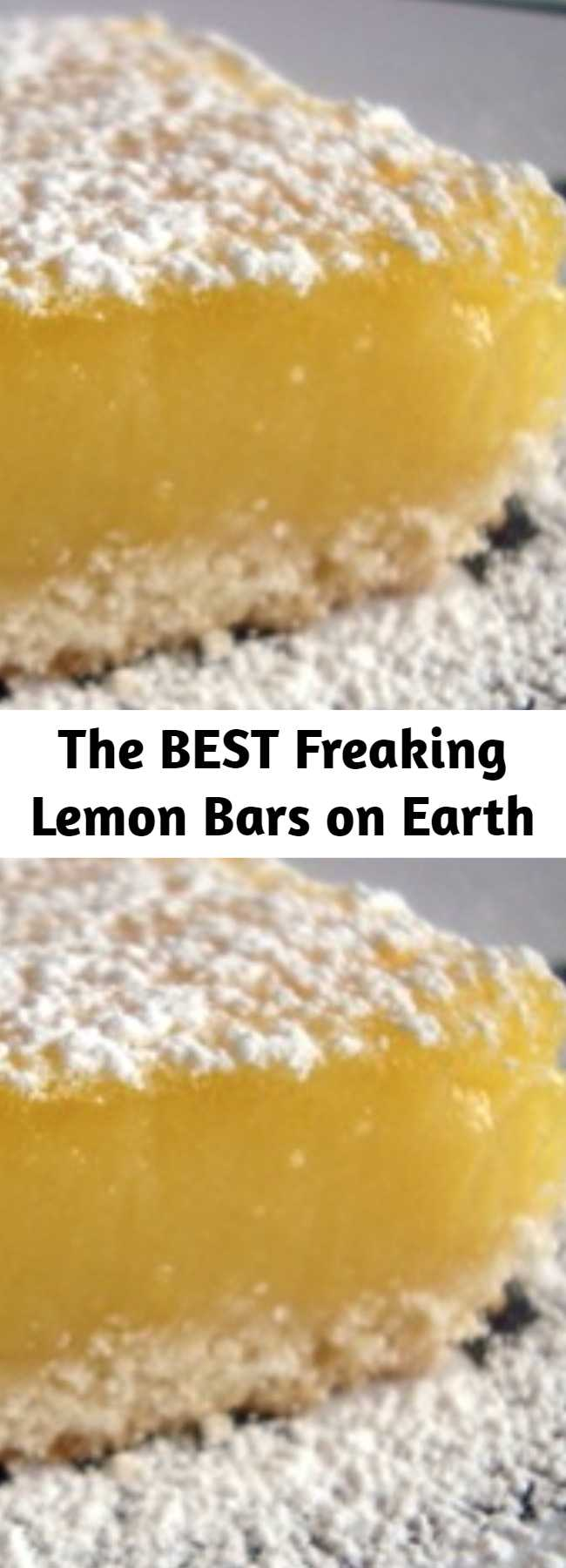 The BEST Freaking Lemon Bars on Earth - You think I'm kidding? You will never, ever, buy the ready-to-make box of pseudo-lemon bars again. This one is the be all and end all. This one is The BEST Freaking Lemon Bars on Earth!