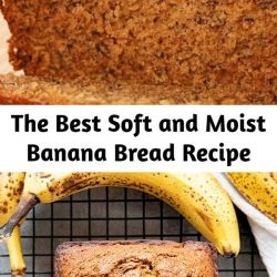 Best Banana Bread Recipe is so easy to make and super soft and moist! The very best way to use up overripe bananas this bread is tender and packed full of flavor!