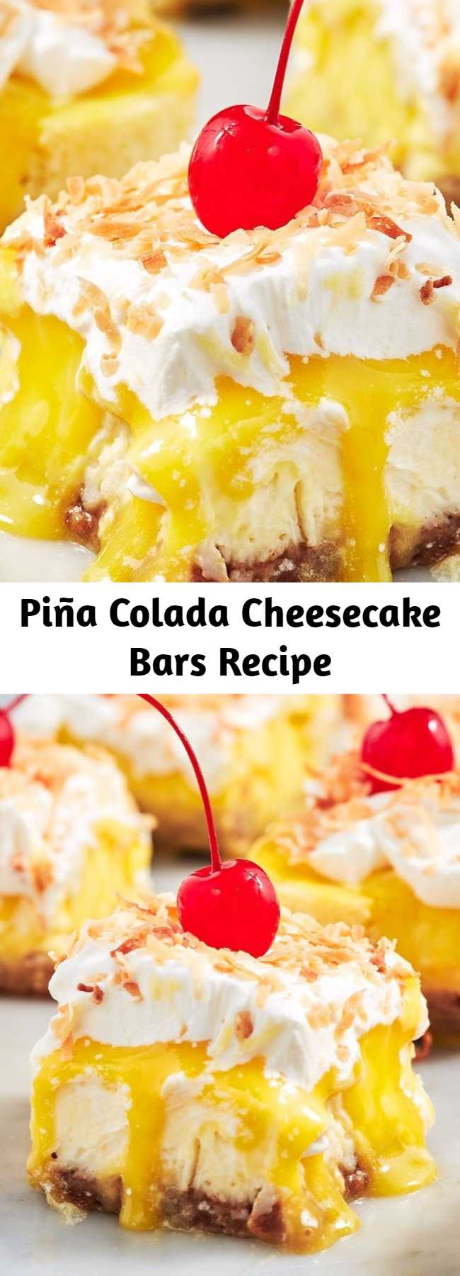 The pineapple curd on these bars is TOO good. One bite will transport you to the beach, piña colada in hand. 😎
