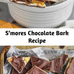 S'mores Chocolate Bark is a yummy, amazing inside out s'mores that you don't even need a camp fire for! Chocolate Bark is my favorite thing to make because it is so easy and the possibilities are endless!