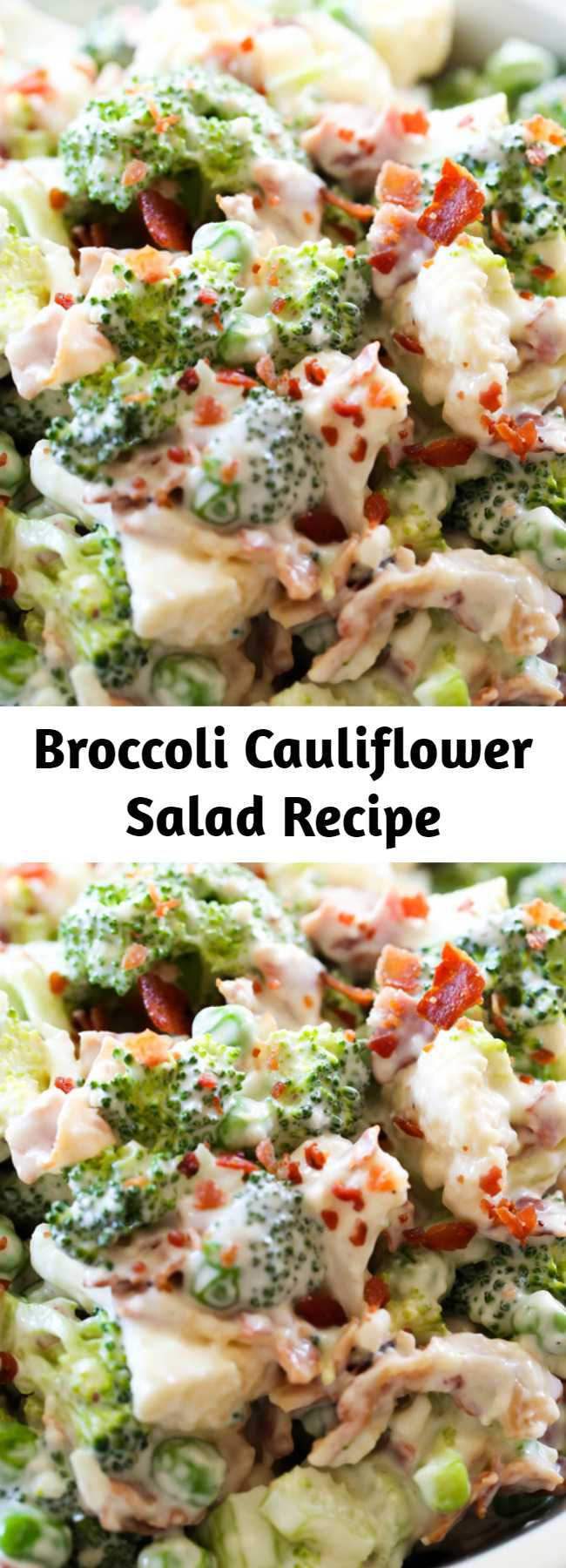 Broccoli Cauliflower Salad Recipe - This salad is AMAZING! The creamy dressing is beyond delicious and go perfectly with the crisp broccoli and cauliflower! This is one recipe you are going to want to try out!