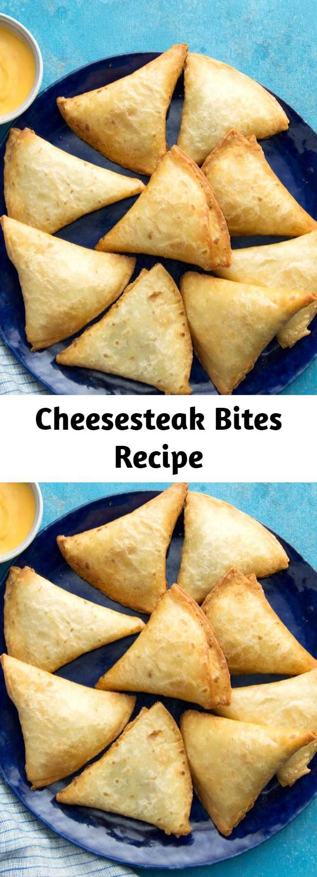 Cheesesteak Bites Recipe - Lil' pockets of flavorful beef, cheese, and pure joy. Happy snacking!