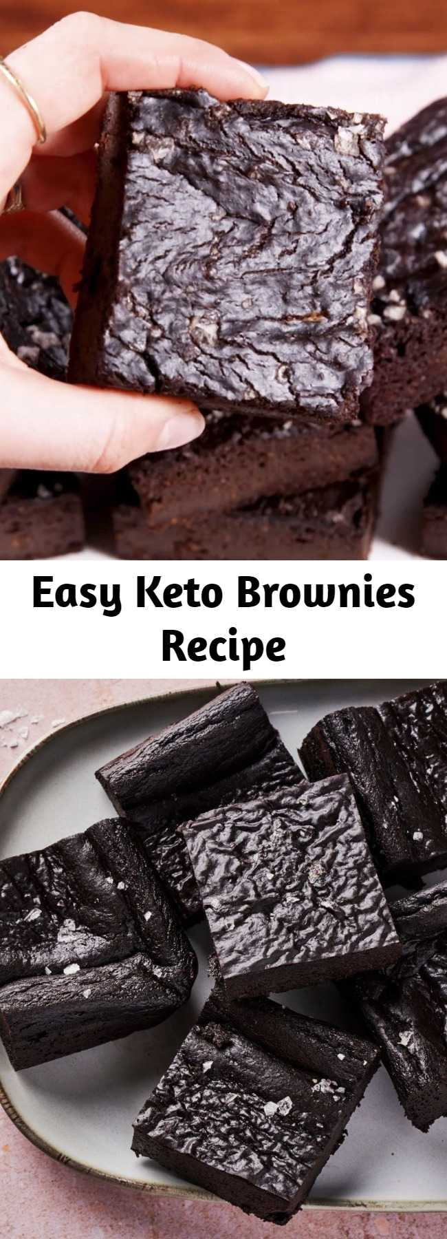 Easy Keto Brownies Recipe - Who says you can't eat brownies when you're on the keto diet?! These keto brownies are the best. When the chocolate craving is strong. #food #easyrecipe #desserts #keto #healthyeating