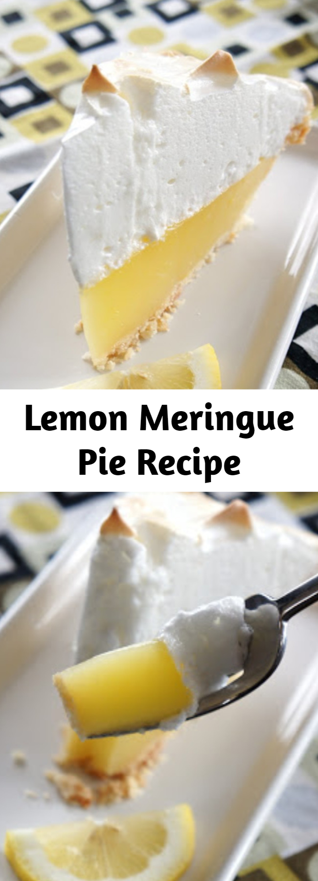 Lemon Meringue Pie Recipe - The best, no fail, lemon meringue pie. The meringue stays fluffy and does not pull away from the crust. The filling does not get runny, it stays perfectly together when you slice the pie.