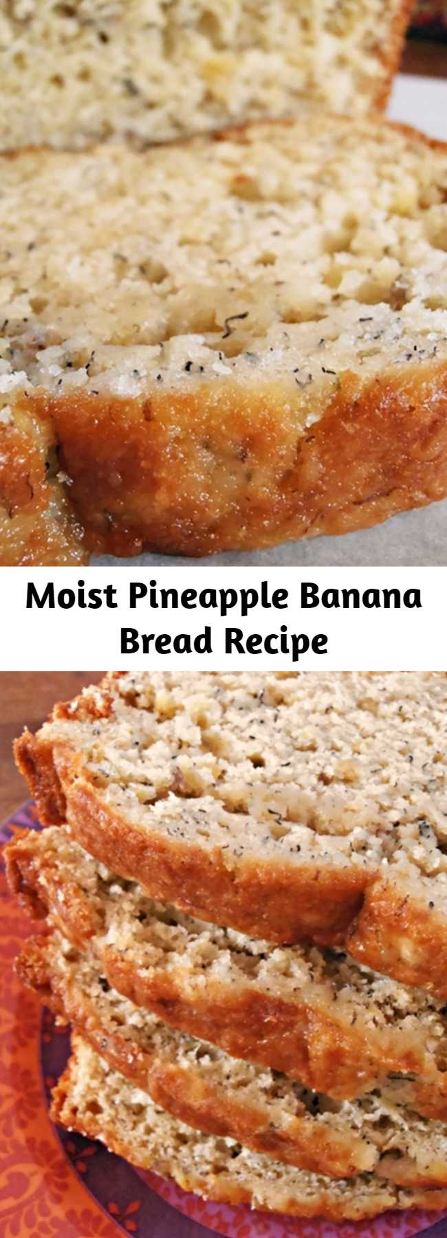 Moist Pineapple Banana Bread Recipe - Moist Pineapple Banana Bread takes a tropical twist on classic banana bread, using crushed pineapple and coconut.