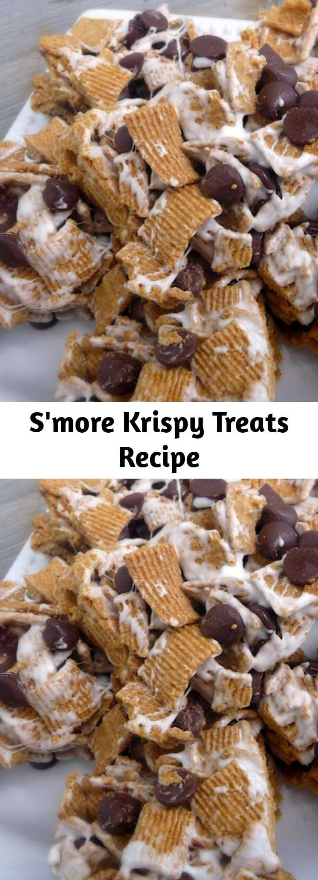 S'more Krispy Treats Recipe - These S'mores bars are incredible! So easy to make and completely delicious!