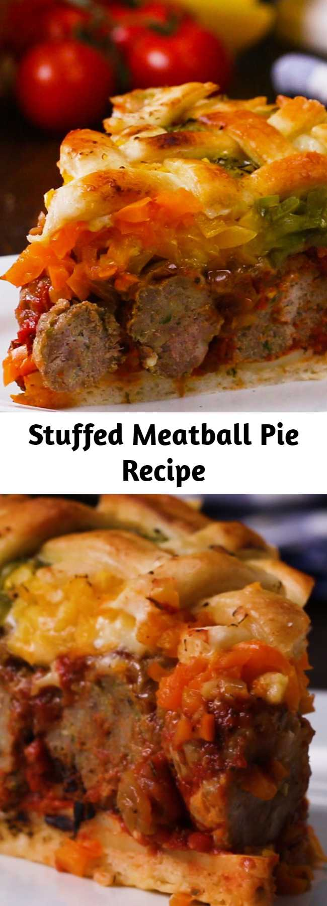 Stuffed Meatball Pie Recipe - This was really tasty and easy to make. Every meatball-lover will adore this Stuffed Meatball Pie.