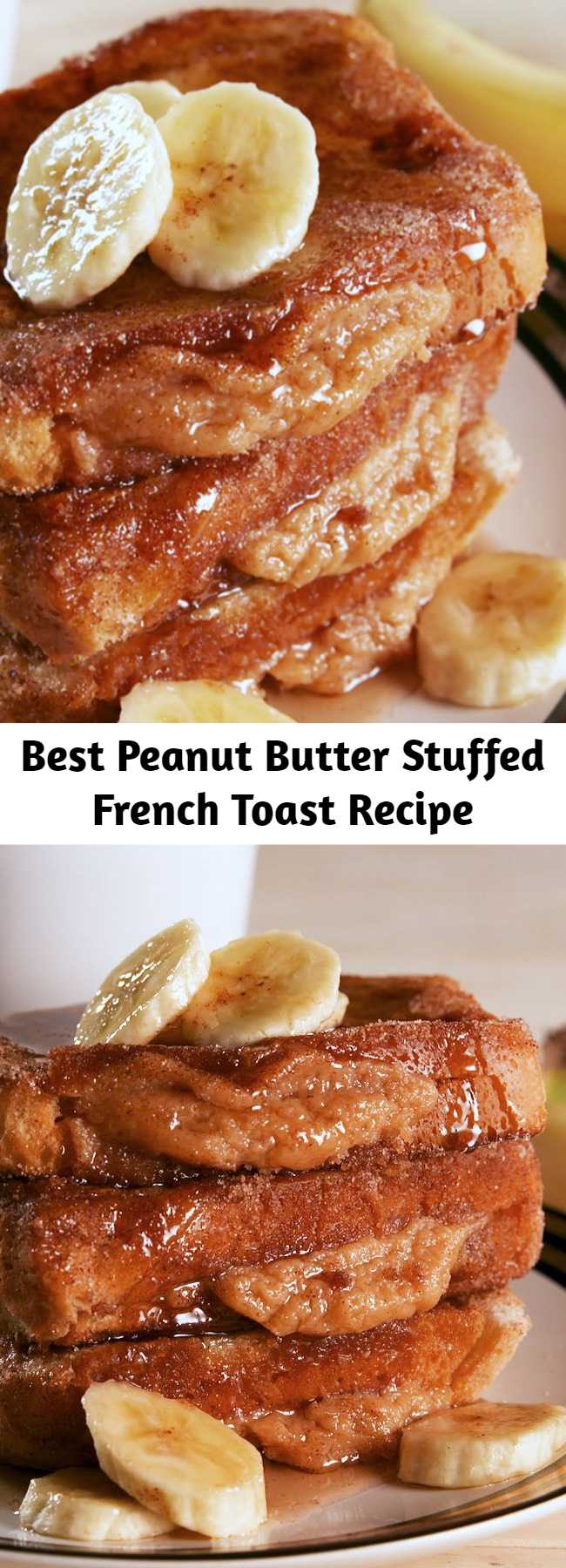 Best Peanut Butter Stuffed French Toast Recipe - Peanut Butter Stuffed French Toast Recipe - This Peanut Butter Stuffed French Toast gives new life to breakfast. Get out of town. #easyrecipe #breakfast #brunch #peanutbutter #food