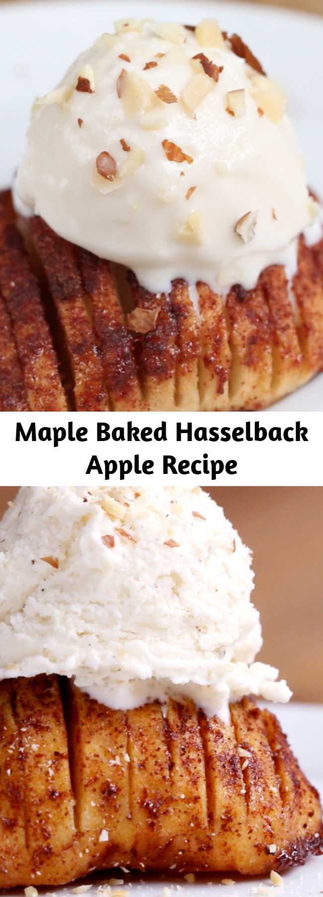 Maple Baked Hasselback Apple Recipe - You Should Make These Maple Baked Hasselback Apples For Dessert