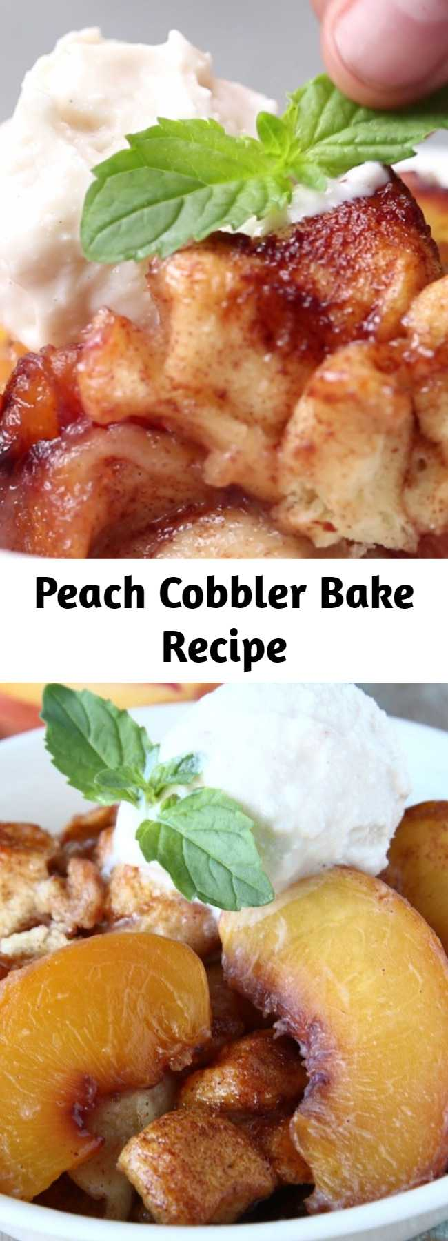 Peach Cobbler Bake Recipe - This Peach Cobbler Cake Is Where Your Taste Buds Need To Be
