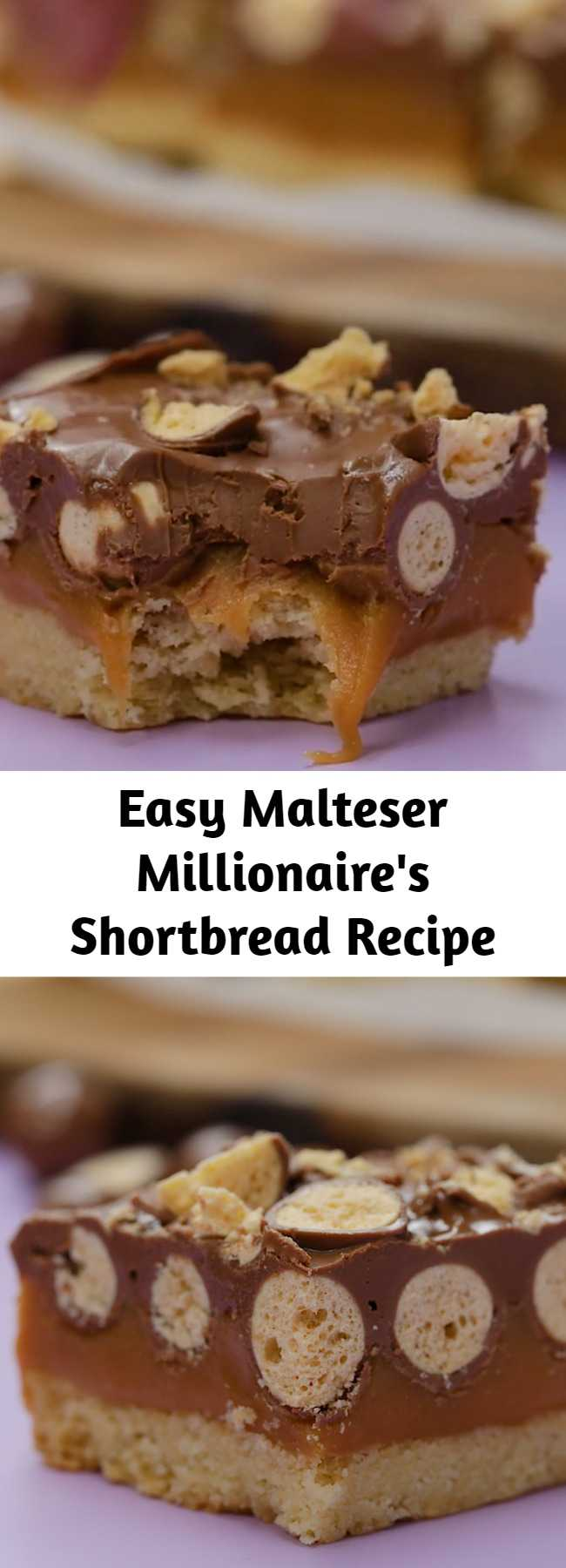 Easy Malteser Millionaire's Shortbread Recipe - To all the Malteser fan out there, this is a next level Malteser Millionaire Shortbread!