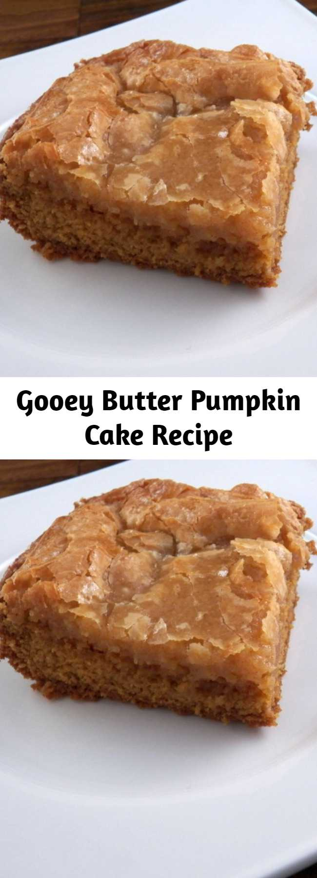 Gooey Butter Pumpkin Cake Recipe - This recipe comes together in minutes and then you just bake, cool and serve. How much easier can you get in life and on top of that it is so unbelievably good that it will definitely impress your friends and family.