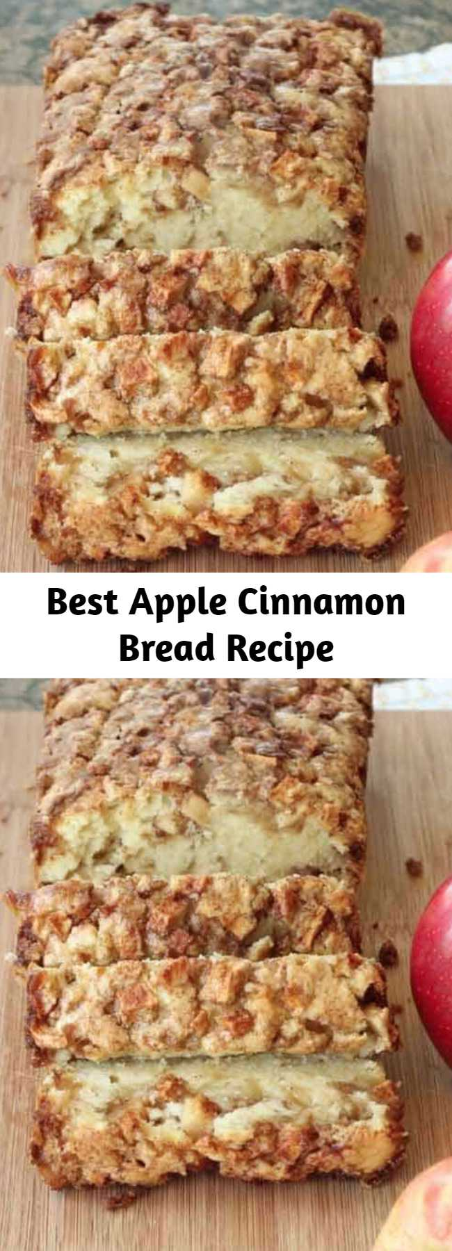 Best Apple Cinnamon Bread Recipe - This is the absolute BEST Apple Bread on the internet. Swirled with cinnamon sugar and juicy apple pieces, try this Apple Bread recipe out and see why it has over 250 amazing reviews!