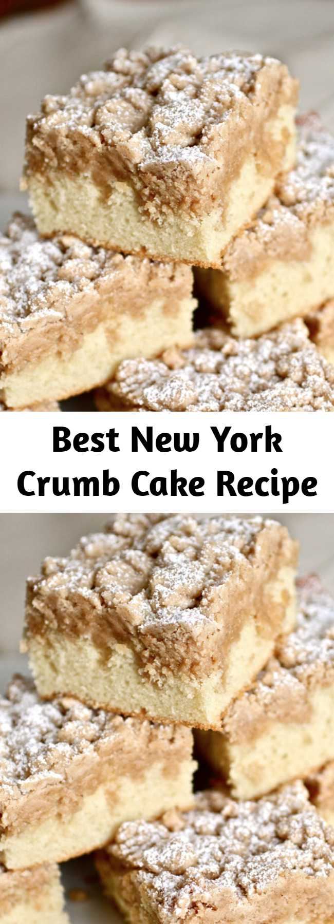 Best New York Crumb Cake Recipe - This New York crumb cake is the absolute BEST recipe out there! It even beats out the Entemann's Ultimate Crumb Cake, according to discerning New Yorkers! With big crumbs and soft, buttery cake, this crumb cake will become an old family favorite in no time.