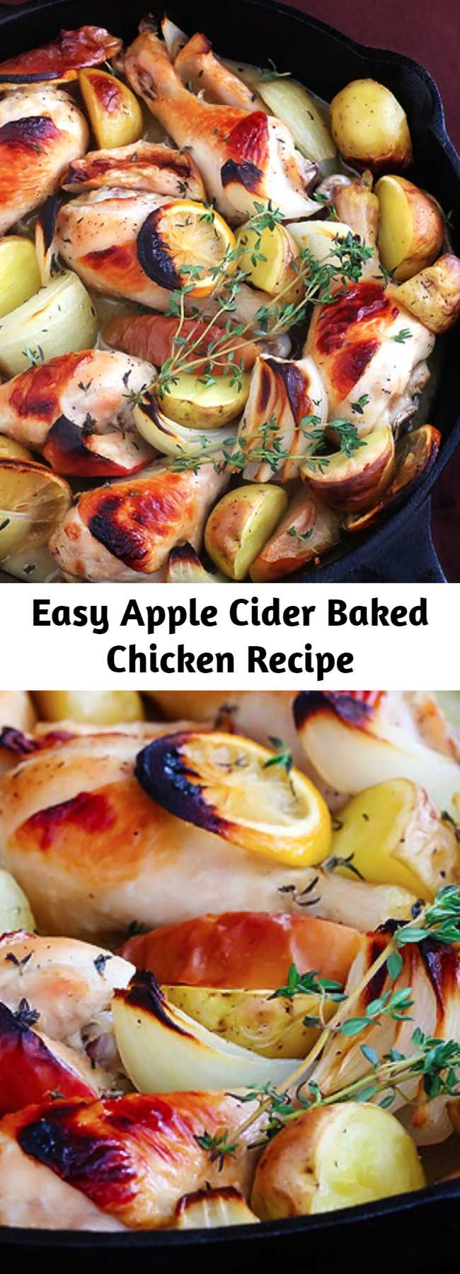 Easy Apple Cider Baked Chicken Recipe - Love apples and chicken? Then you are sure to love this Apple Cider Baked Chicken recipe! Blend your easy dinner favorites with the flavor of the season.