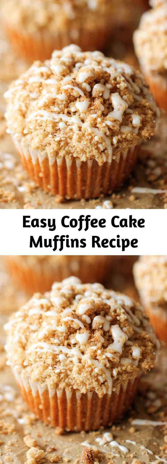 Easy Coffee Cake Muffins Recipe - The classic coffee cake is transformed into a convenient muffin, loaded with a mile-high crumb topping!