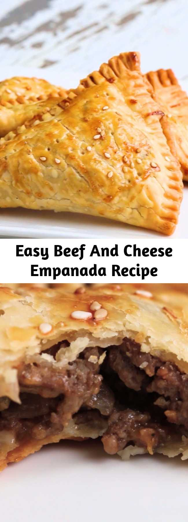 Easy Beef And Cheese Empanada Recipe - Cheeseburger Hand Pies. These were very good and super easy to make!