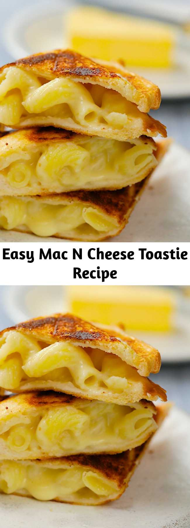 Easy Mac N Cheese Toastie Recipe - What's a better match than a mac n cheese toastie? Was there ever a better match?