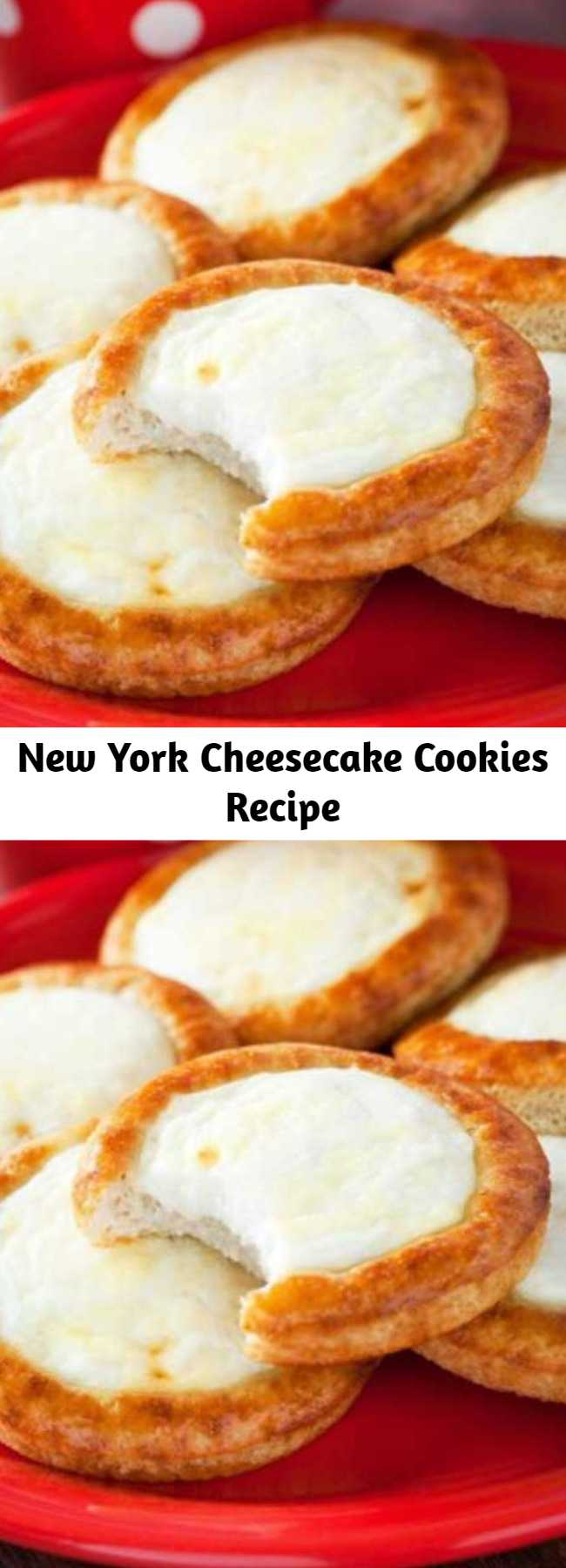 """New York Cheesecake Cookies Recipe - It's like Christmas came early! If you had asked me what could make a cheesecake I would have smiled dreamily and said """"Nothing."""" But then, cheesecake cookies happened."""