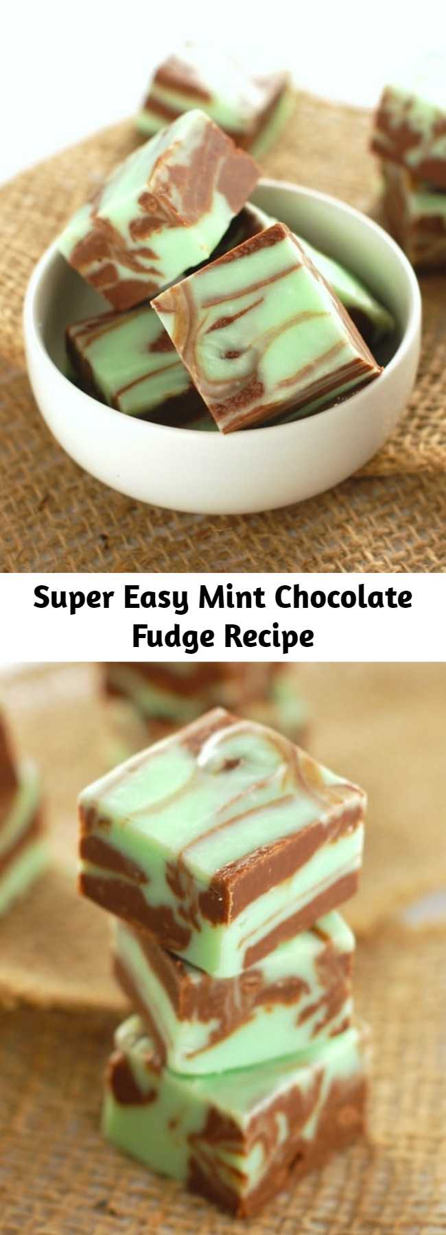 Super Easy Mint Chocolate Fudge Recipe - A simple fudge recipe that looks fancy and tastes amazing!