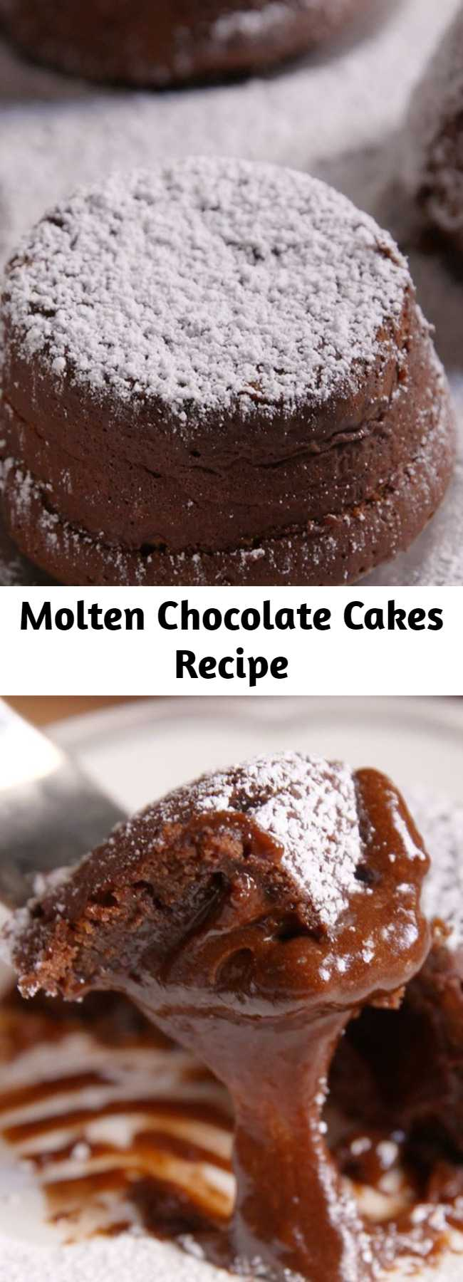 Molten Chocolate Cakes Recipe - Sure, chocolate cake is great. But MOLTEN chocolate cake? For chocolate lovers, this one is the ultimate. Now you don't have to go out to a fancy restaurant for molten chocolate cakes.